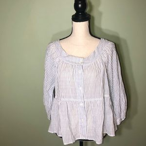 We the free NWT FP Large Stripe Blouse Top